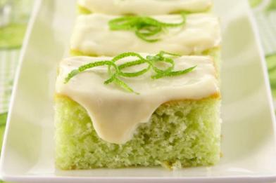 Bolo de limão verde fofinho