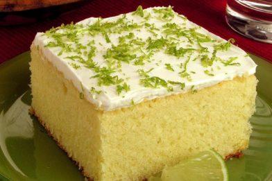 Bolo de limão verde delicioso