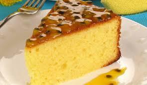Receita de bolo de maracujá delicioso