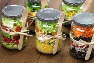 Receita simples de salada no pote