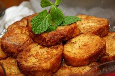 Rabanada de forno delicioso
