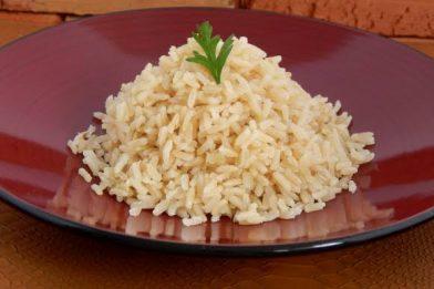 Receita caseira de arroz integral