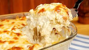 Receita de lasanha ao molho branco simples