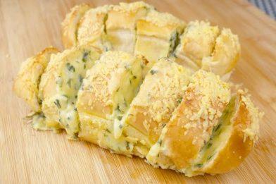 Pão de alho cremoso delicioso