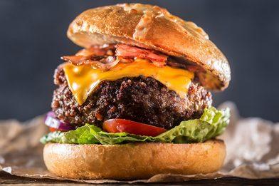 Hambúrguer artesanal simples