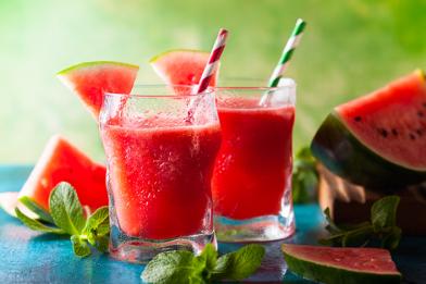 Suco de melancia refrescante
