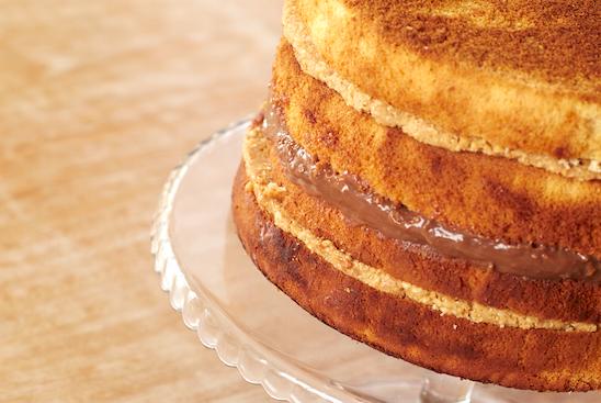 bolo gelado de pão de ló