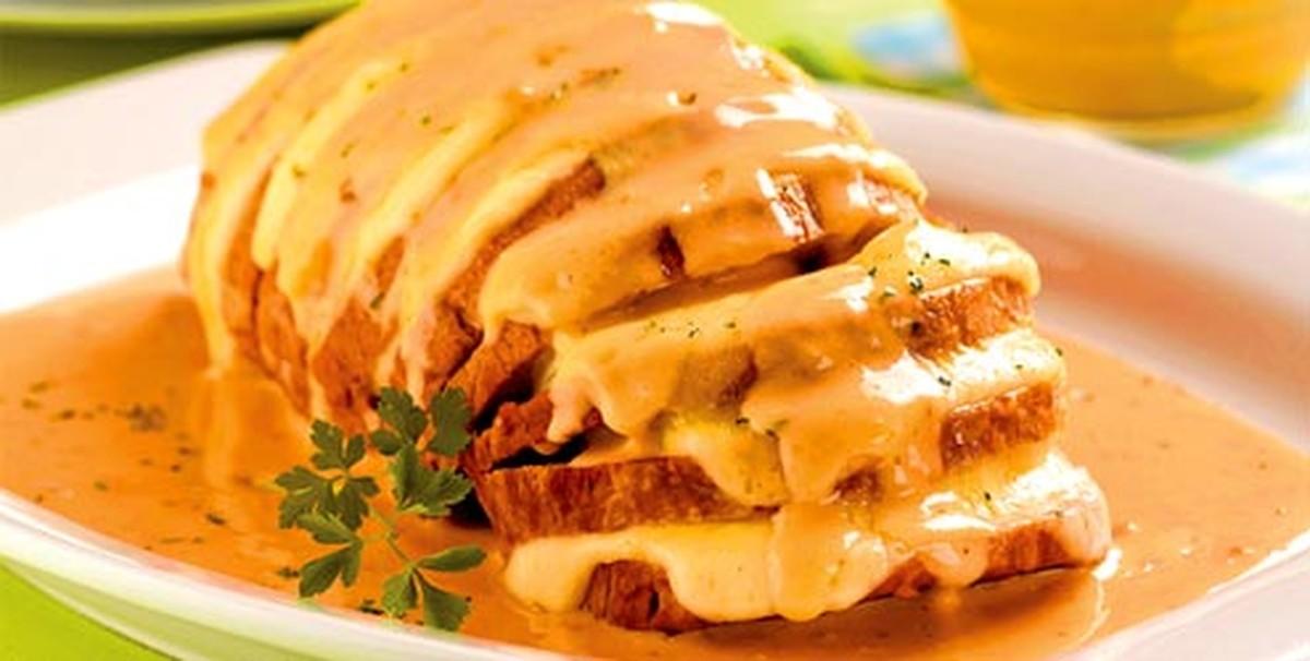 lagarto recheado com queijo e bacon