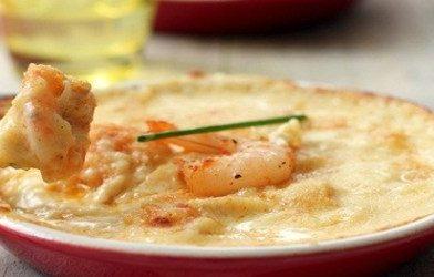 Saborosa receita de camarão com catupiry gratinado