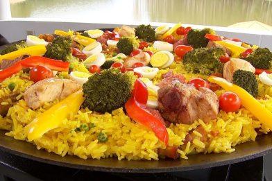 Paella caipira a mais deliciosa