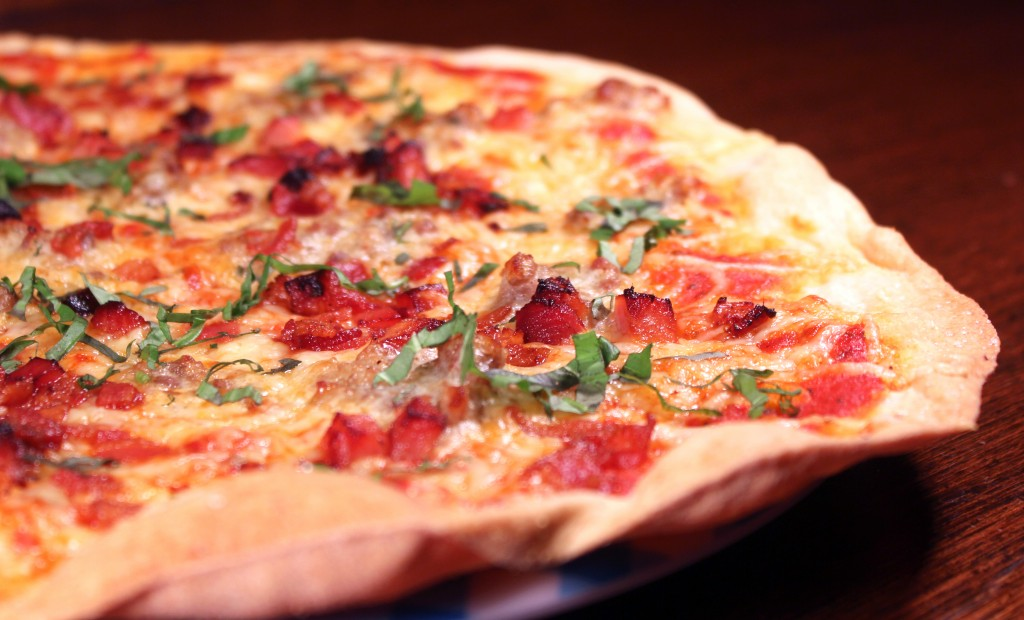 massa de pizza crocante