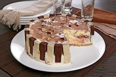 O melhor bolo de sorvete gelado com bis