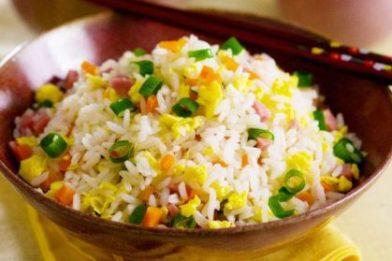Deliciosa receita de arroz chines