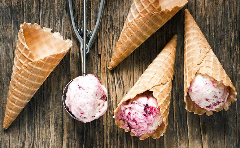 receita de casquinha de sorvete crocante