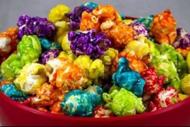 Pipoca colorida para vender