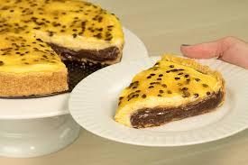 A melhor torta de maracujá com chocolate