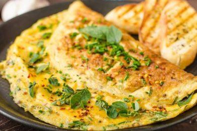 Receita de omelete simples