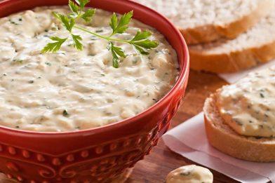 Patê de queijo super cremoso