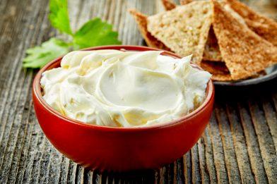 Cream cheese caseiro delicioso