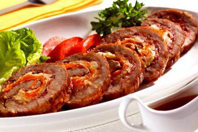 A melhor carne de lagarto recheado