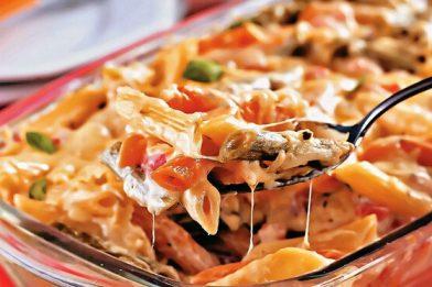 Delicioso macarrão de pizza receita simples