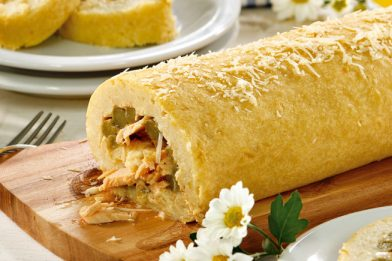 Rocambole salgado de batata delicioso e prático