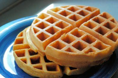 Massa de waffle simples e rápido