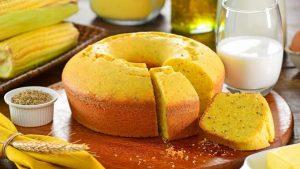 bolo de flocão de milho