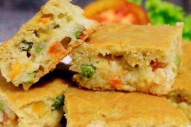 Torta de legumes suculenta