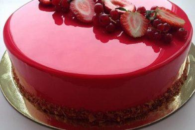 Receita de bolo espelhado deliciosa