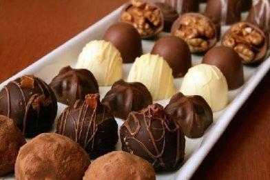 Os melhores bombons de chocolate caseiro