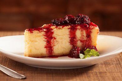 Delicioso cheesecake tradicional