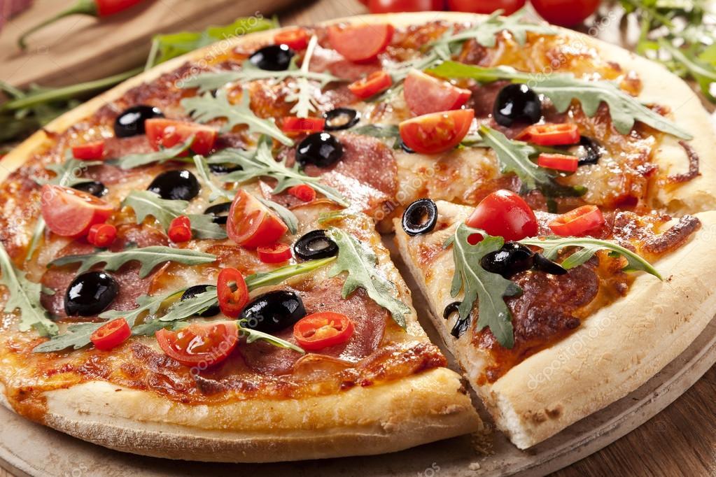 pizza com iogurte natural