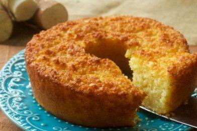 O mais delicioso bolo de aipim cozido cremoso