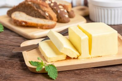 Receita deliciosa de manteiga com nata