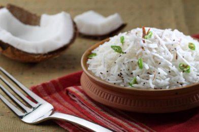 O melhor arroz com coco