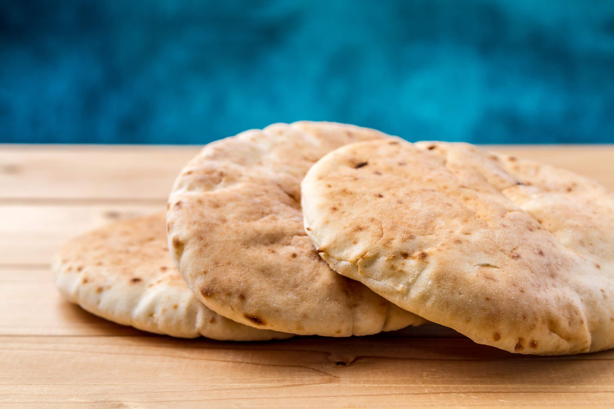 pão árabe de microondas