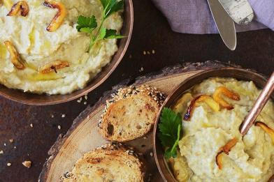Babaganush delicioso e simples
