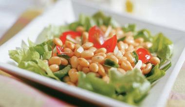 Salada de soja rápida e fácil