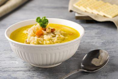 Receita deliciosa de sopa de arroz