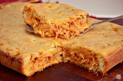 Torta de frango tradicional