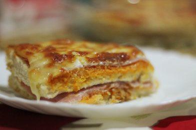 Receita torta com pão de forma caseira e simples