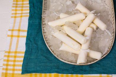 Geladinho de coco simples para o verão
