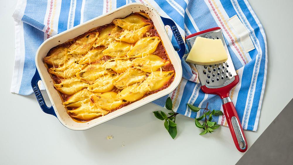 conchiglione recheado com queijo
