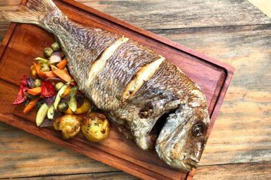 Delicioso peixe congrio