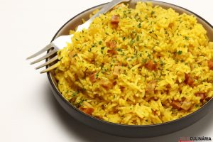 arroz com açafrão