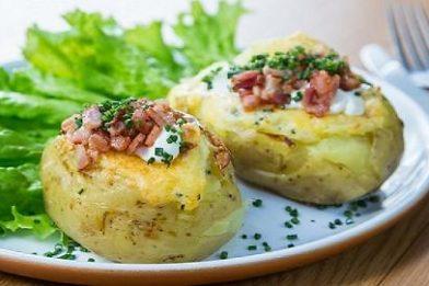 Receita de baked potato fácil e rápido
