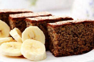 Bolo de banana fitness super simples