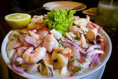 Delicioso ceviche chileno