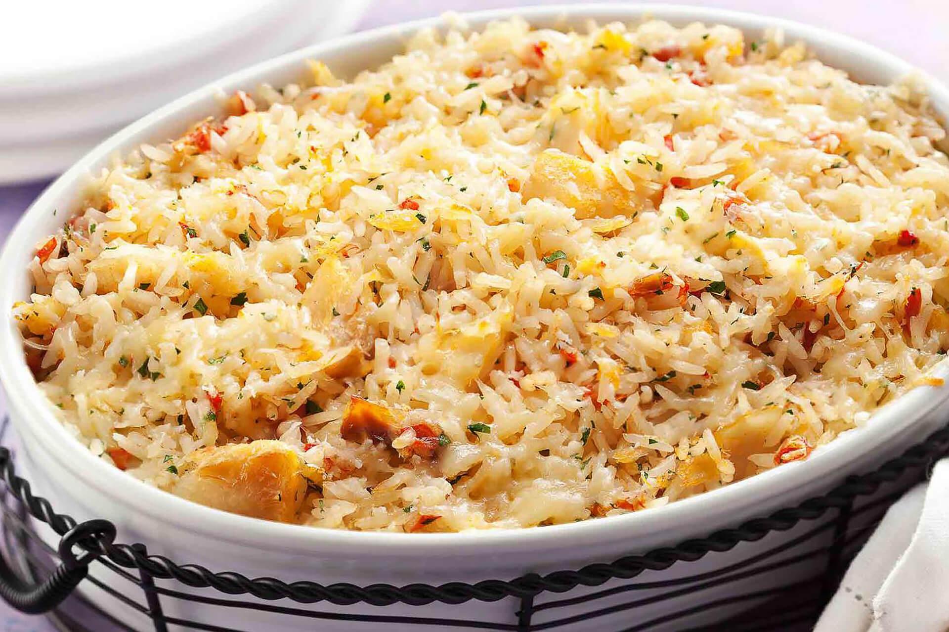 arroz de forno delícia